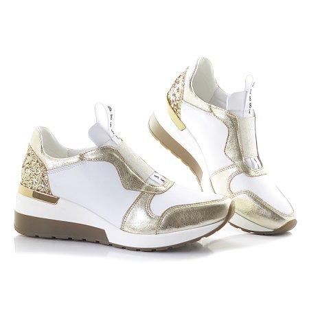 d96d434653c81 Bielo-zlaté topánky CLAUDIO DESSI 6331