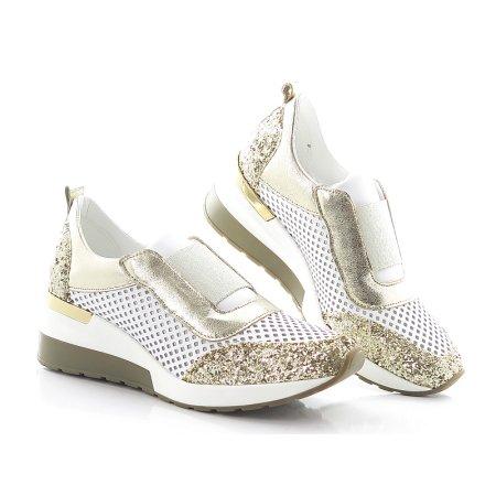 745099f0860e5 Bielo-zlaté topánky CLAUDIO DESSI 6408