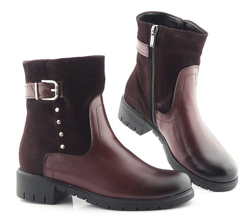 eb5e4274bb79b Bordové kožené topánky s prackou • Kabelky-topanky.sk