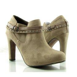 Trendové dámske členkové topánky na podpätku TAMARIS