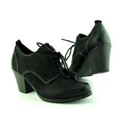 Dámske pohodlné kožené čierne topánky MARCO TOZZI