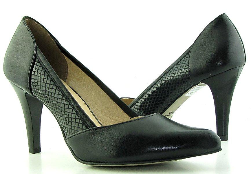 1844d0f286224 Čierne kožené pohodlné lodičky • Kabelky-topanky.sk