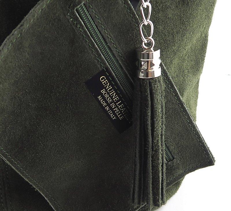 c6b80a56426a0 Dámska kožená zelená kabelka • Kabelky-topanky.sk