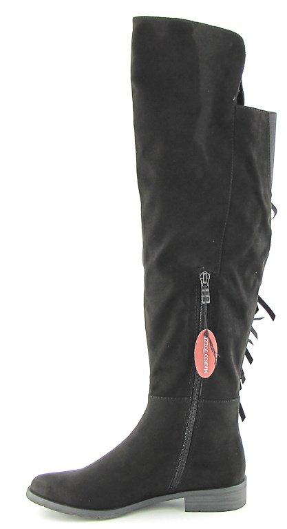 a25e456c238b2 Dámske čierne čižmy so strapcami MARCO TOZZI • Kabelky-topanky.sk