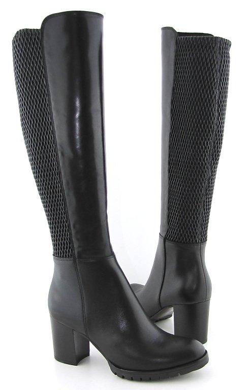 14a0f5672cd3b Dámske kožené čierne čižmy s XS sárou ROBSON • Kabelky-topanky.sk