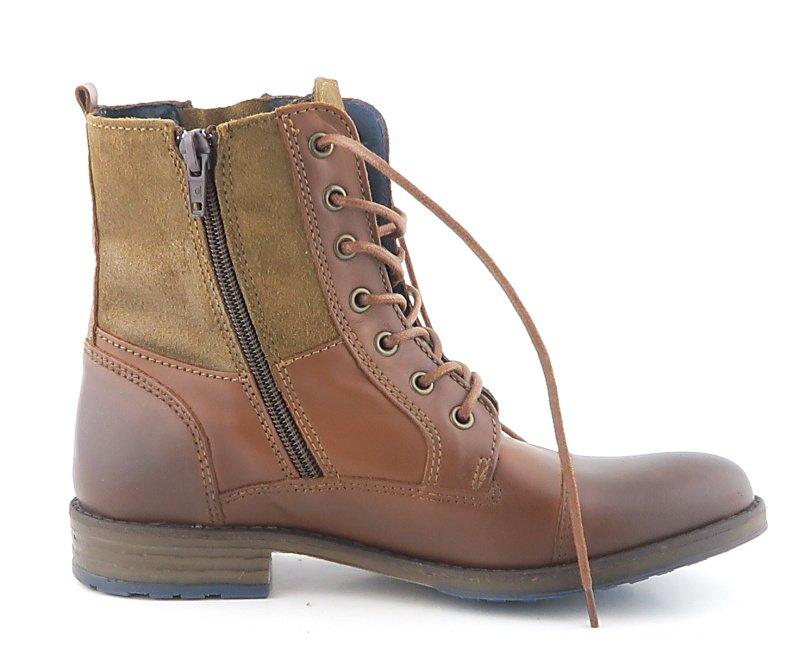 7a7b62c81 Dámske kožené hnedé topánky MUSTANG • Kabelky-topanky.sk