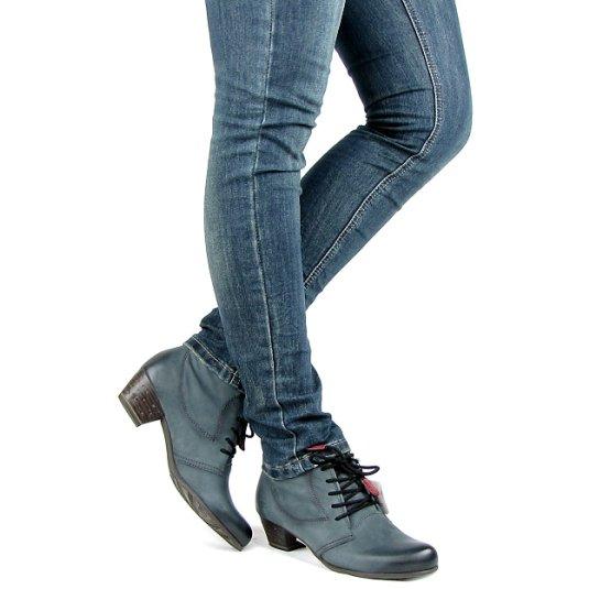 d084f0b923264 Dámske kožené modré topánky TAMARIS • Kabelky-topanky.sk