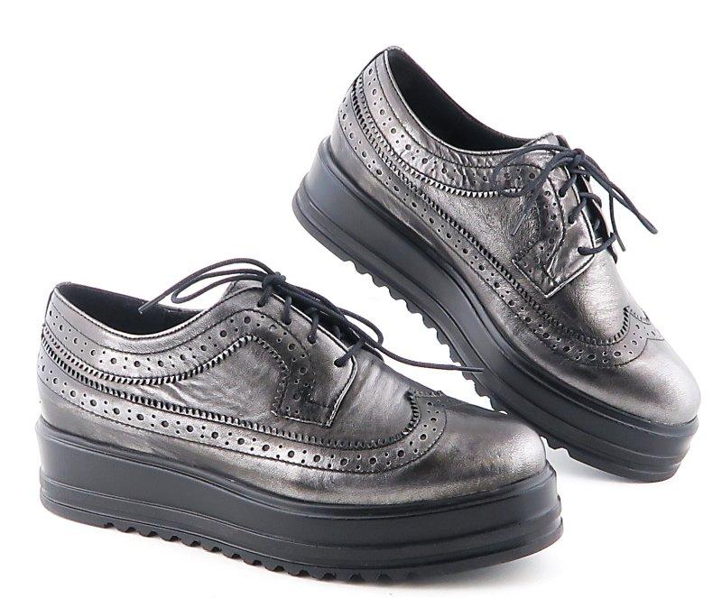 373f129c8 Dámske kožené sivé topánky NESSI • Kabelky-topanky.sk