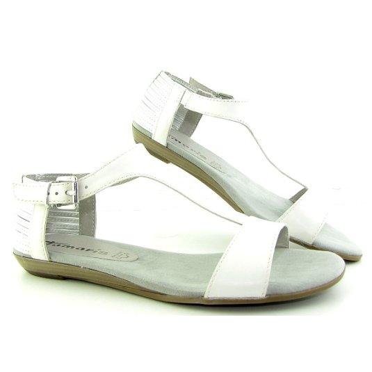 2e02b07a4 Dámske letné biele sandále TAMARIS • Kabelky-topanky.sk