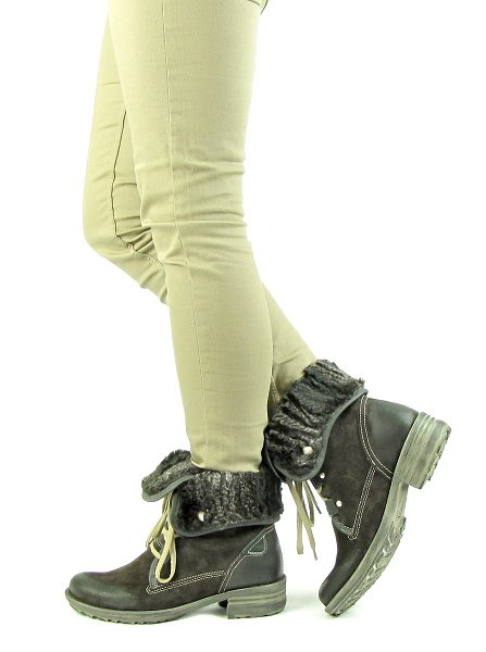 d3f29ee6ff380 Dámske pohodlné kožené hnedé topánky na šnurovanie JOSEF SEIBEL ...
