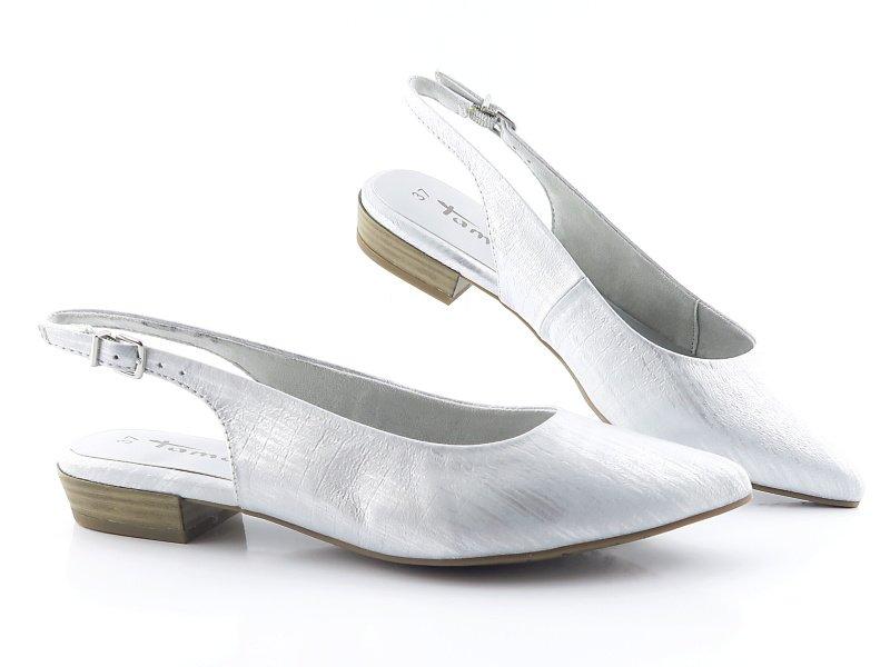 4ace54320 Dámske pohodlné strieborné sandálky TAMARIS • Kabelky-topanky.sk
