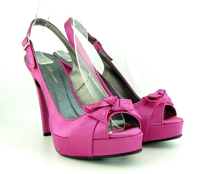 3d690228b7ddf Dámske spoločenské ružové sandálky na platforme • Kabelky-topanky.sk