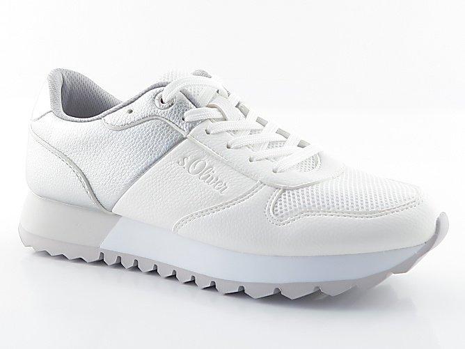 59fdad69f2227 Dámske štýlové biele topánky S.OLIVER • Kabelky-topanky.sk