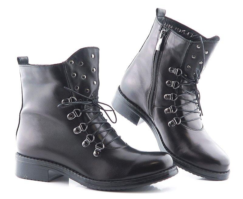 c62051bd10c53 Dámske trendové kožené čierne topánky • Kabelky-topanky.sk