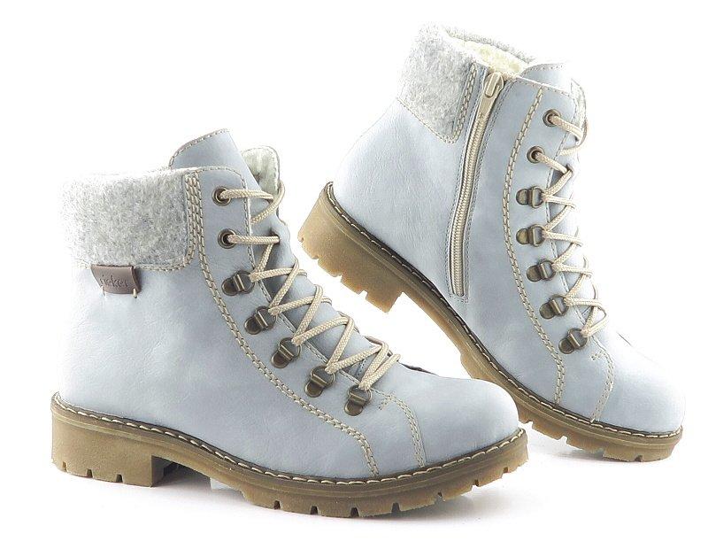 960efe0d7c13f Dámske trendové svetlo-modré topánky RIEKER • Kabelky-topanky.sk