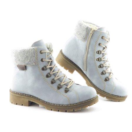 78e8d3d04440c Dámske trendové svetlo-modré topánky RIEKER. VÝPREDAJ