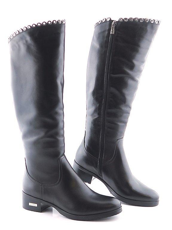 7e0c1bdbd186f Elegantné dámske čierne čižmy SIMEN • Kabelky-topanky.sk