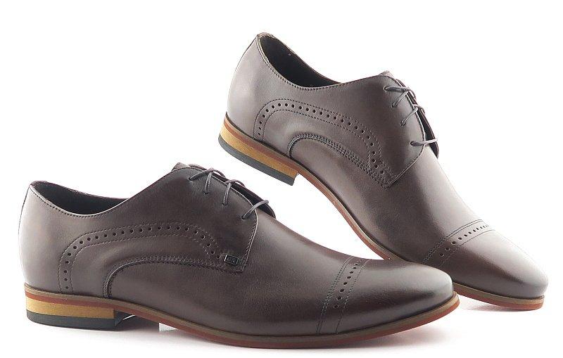 9846c38e07095 Elegantné kožené hnedé topánky na šnurovanie NIK • Kabelky-topanky.sk