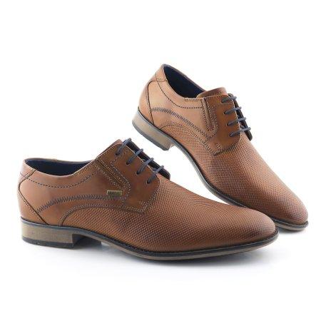 f259cae142fe9 Elegantné pánske kožené hnedé topánky BUGATTI