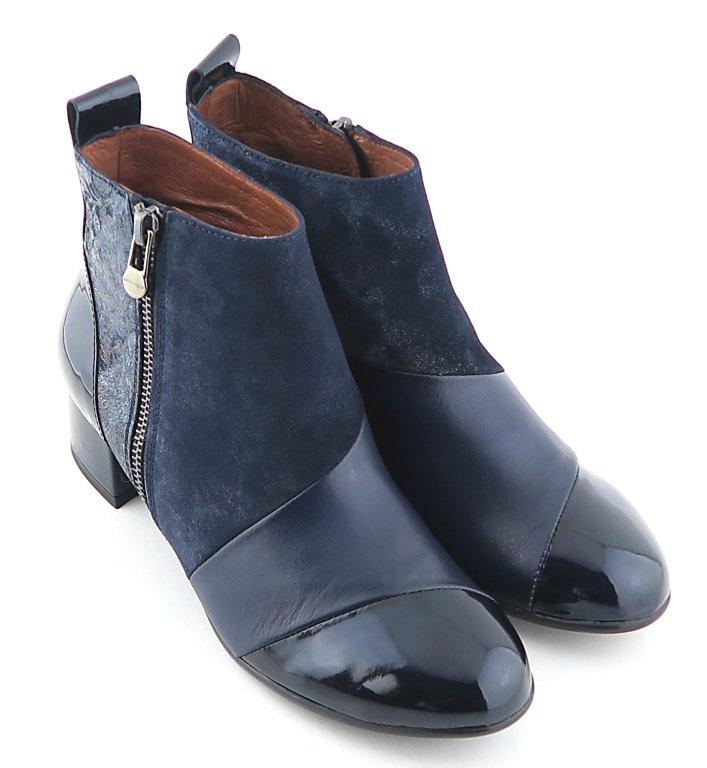 ac1d8195b9c89 Exklusívnne kožené modré členkové čižmy HISPANITAS • Kabelky-topanky.sk