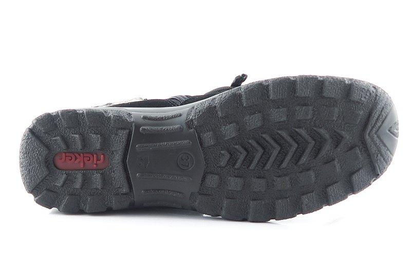 0491f645dd03e Komfortné čierne topánky s kožušinou RIEKER • Kabelky-topanky.sk