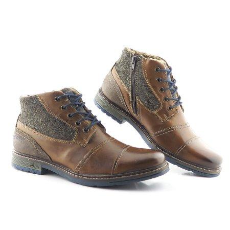 8687c75048395 Komfortné kožené pánske topánky BUGATTI