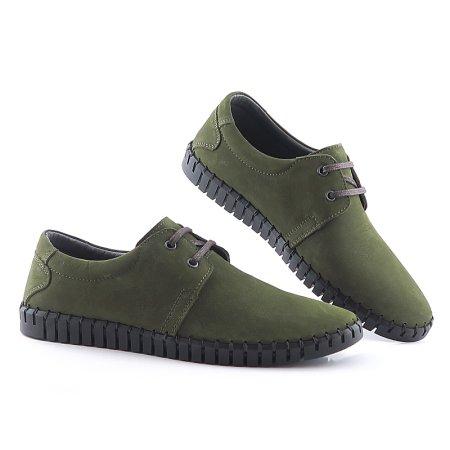 5b8d8546e Komfortné kožené zelené topánky LANQIER