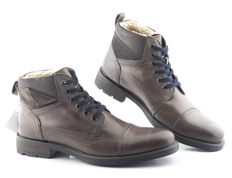 52138a94a0b4c Komfortné sivé pánske topánky KLONDIKE • Kabelky-topanky.sk