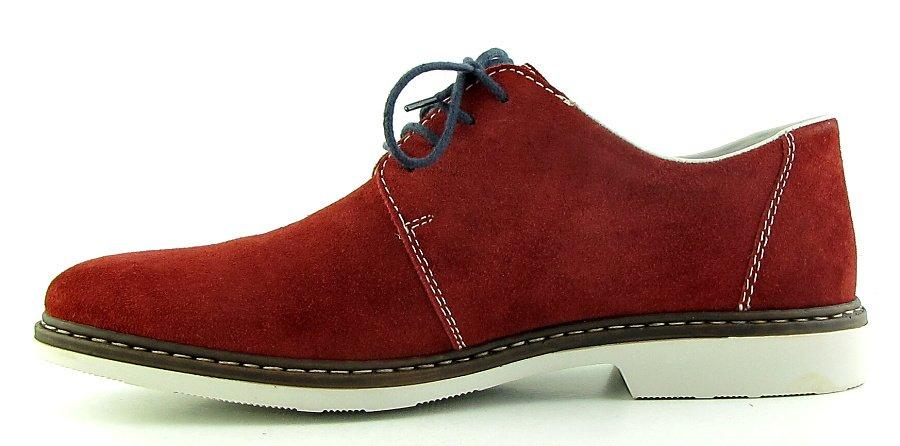 eadaacb0e Kožené pánske červené topánky na šnúrovanie RIEKER • Kabelky-topanky.sk