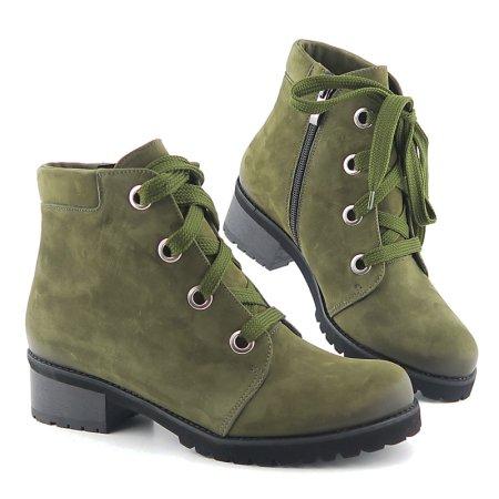 fad03dafe Trendové kožené zelené členkové čižmy JANA • Kabelky-topanky.sk