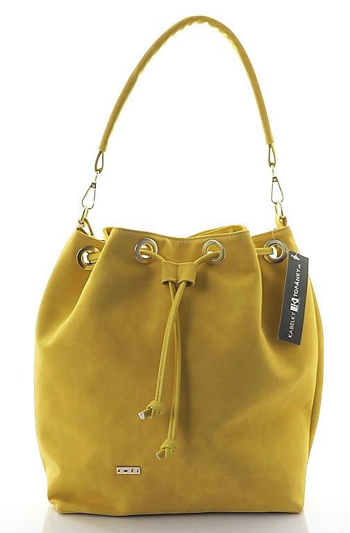 032c747e6 Kvalitná dámska žltá kabelka EMBI • Kabelky-topanky.sk