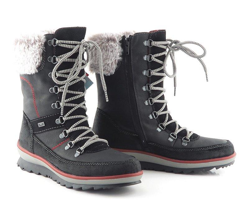 7e99883277418 Kvalitné dámske čierne topánky RIEKER • Kabelky-topanky.sk
