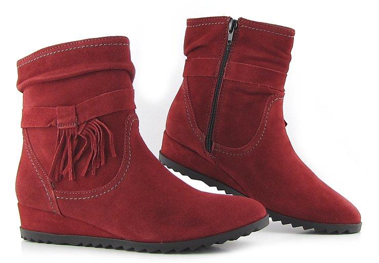 5a45271129344 Kvalitné kožené červené členkové čižmy TAMARIS • Kabelky-topanky.sk