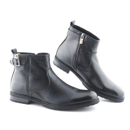 538dac1db Kvalitné kožené čierne topánky na zips BIG STAR