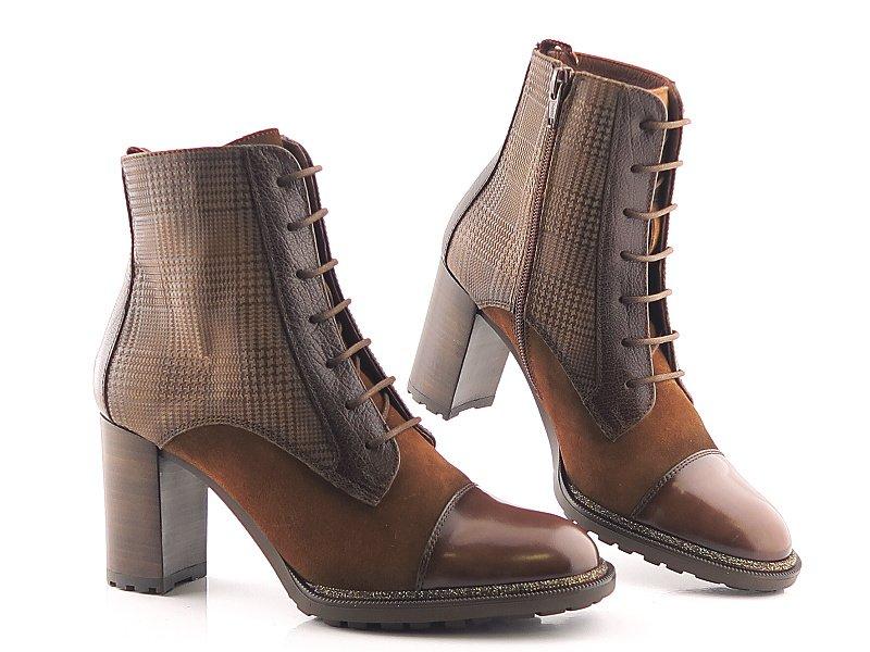 267f57c54 Kvalitné kožené hnedé členkové topánky HISPANITAS • Kabelky-topanky.sk