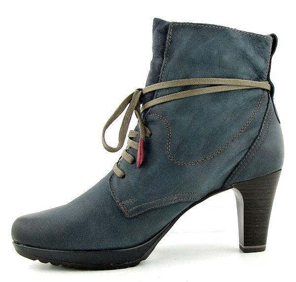 1cbe9df76b8f3 Kvalitné kožené modré topánky na podpätku TAMARIS • Kabelky-topanky.sk