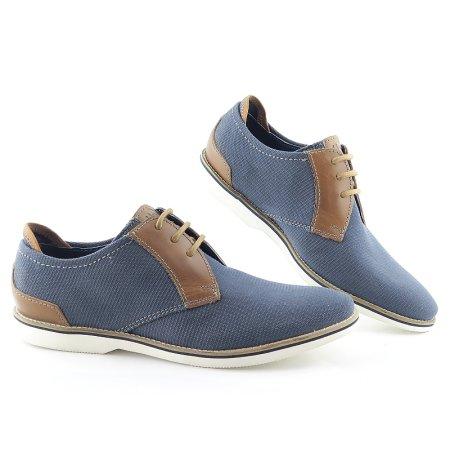 486ce16916c9c Kvalitné pánske modré topánky na šnurovanie BUGATTI