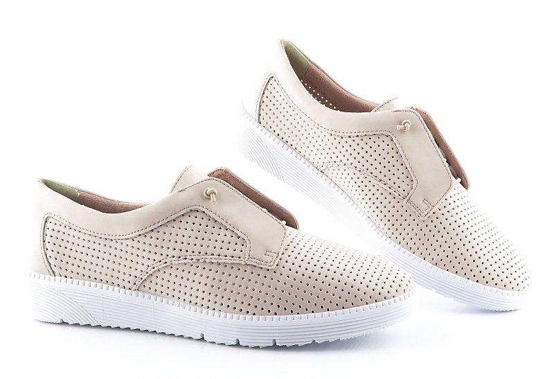 4404ea0890d47 Ľahké perfórované béžové topánky TAMARIS • Kabelky-topanky.sk