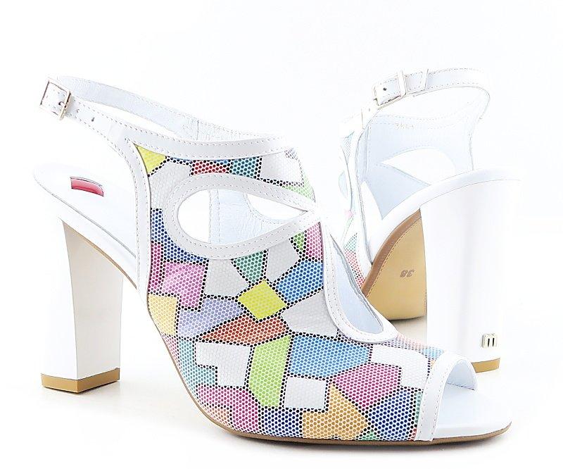 093b1482e Letné kožené farebné sandálky MACCIONI • Kabelky-topanky.sk