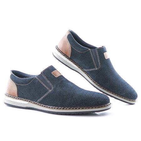 5b174e4a4b7f6 Modré topánky RIEKER 16861-14