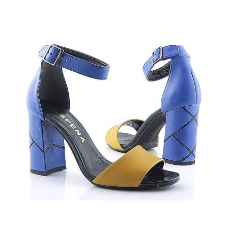 bb6dc4a88592c Modro-žlté sandálky ASPENA KOR PAULA 18
