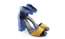 f953d64f51c64 Modro-žlté sandálky ASPENA KOR PAULA 18 • Kabelky-topanky.sk