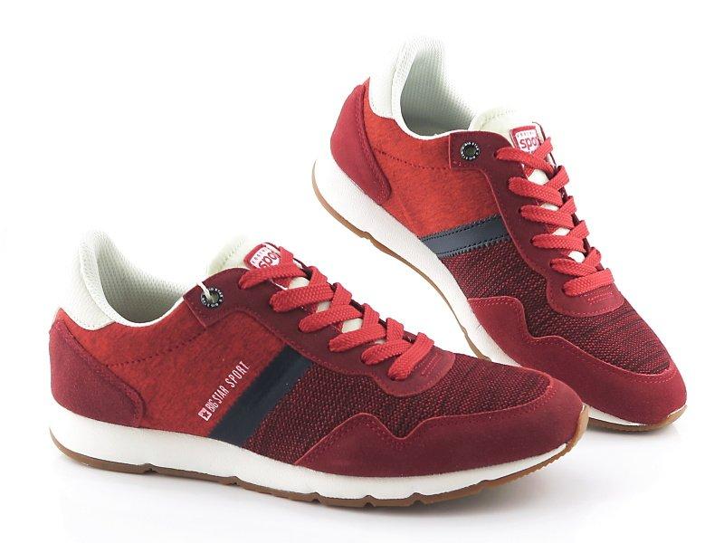 8c878c8db10e4 Pánske červené topánky na šnurovanie BIG STAR • Kabelky-topanky.sk