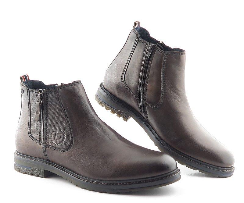 8a77569f7 Pánske kožené hnedé topánky na zips BUGATTI • Kabelky-topanky.sk