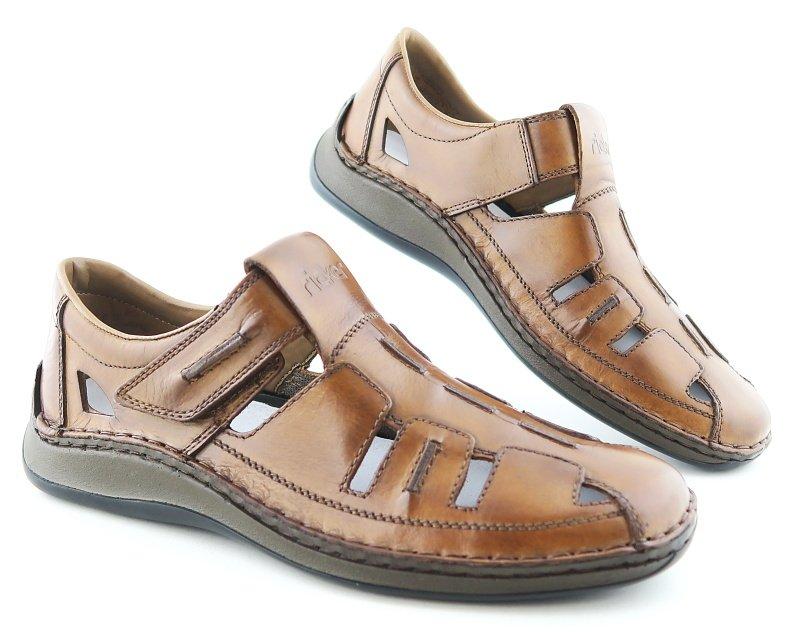 a95c53557419e Pánske kožené hnedé topánky RIEKER • Kabelky-topanky.sk
