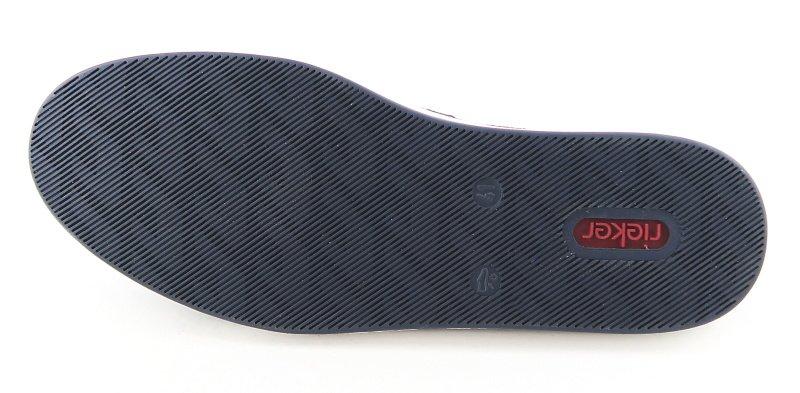 11f3d47978f84 Pánske kožené modré mokasíny RIEKER • Kabelky-topanky.sk
