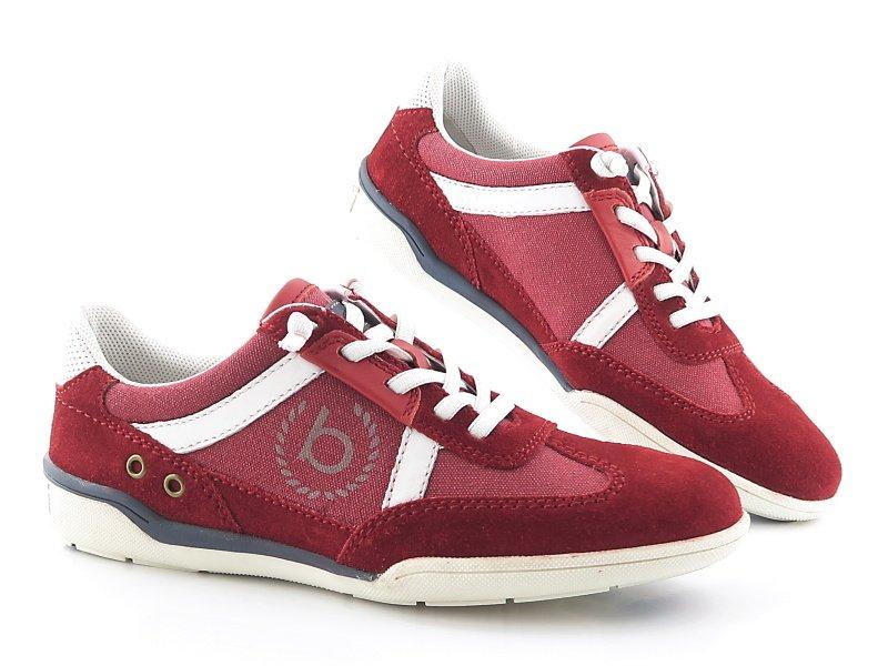 b0ff43bb1b79b Pánske pohodlné červené topánky BUGATTI • Kabelky-topanky.sk