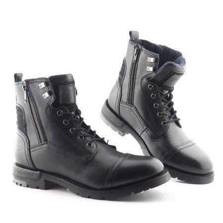 567dc3997eb32 Pánske trendové čierne topánky BUGATTI