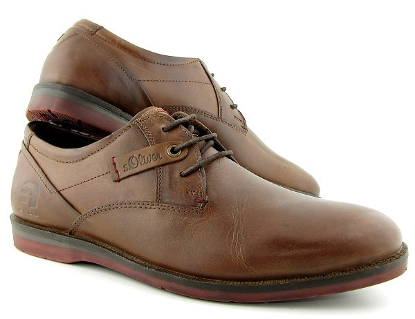 99e67f3c48bcf Pánske trendové kožené hnedé topánky S. OLIVER • Kabelky-topanky.sk
