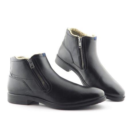 70aeb53708bd8 Pánske zimné čierne topánky na zips BUGATTI